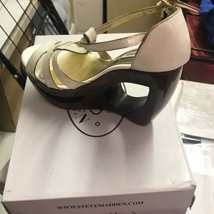 Steve Madden platforms with cut out